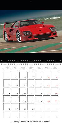 Ferrari F40 LM (Wall Calendar 2019 300 × 300 mm Square) - Produktdetailbild 1