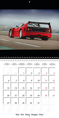 Ferrari F40 LM (Wall Calendar 2019 300 × 300 mm Square) - Produktdetailbild 5