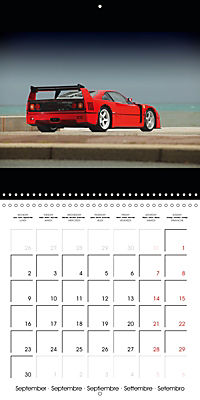 Ferrari F40 LM (Wall Calendar 2019 300 × 300 mm Square) - Produktdetailbild 9
