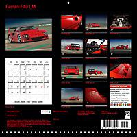 Ferrari F40 LM (Wall Calendar 2019 300 × 300 mm Square) - Produktdetailbild 13