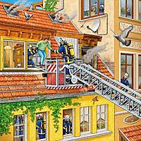 Feuerwehreinsatz. Puzzle (3 x 49 Teile) - Produktdetailbild 2