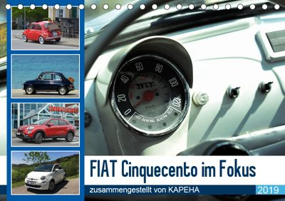 Fiat Cinquecento im Fokus (Tischkalender 2019 DIN A5 quer), Kapeha