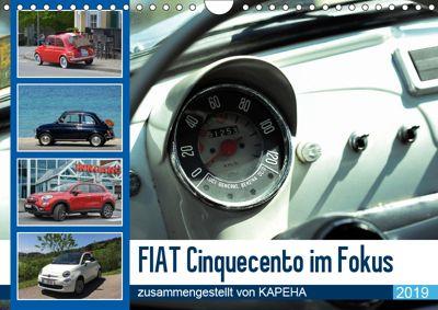Fiat Cinquecento im Fokus (Wandkalender 2019 DIN A4 quer), Kapeha