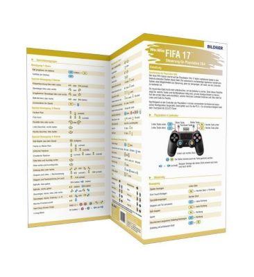 fifa 17 alle spieler steuerungen auf einen blick 1 falttafel buch. Black Bedroom Furniture Sets. Home Design Ideas