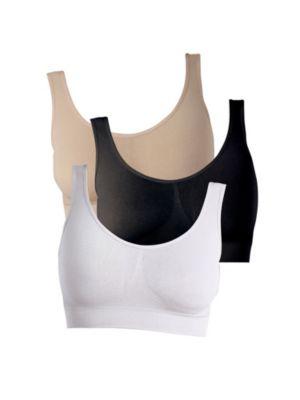 Figur Body - Traum-BH, 3er-Set, schwarz/weiß/hautfarben (Größe: M)