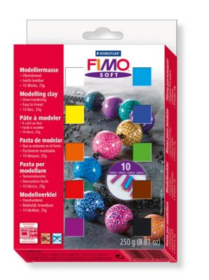 Fimo soft Modelliermasse, 250 g, 10 Farben