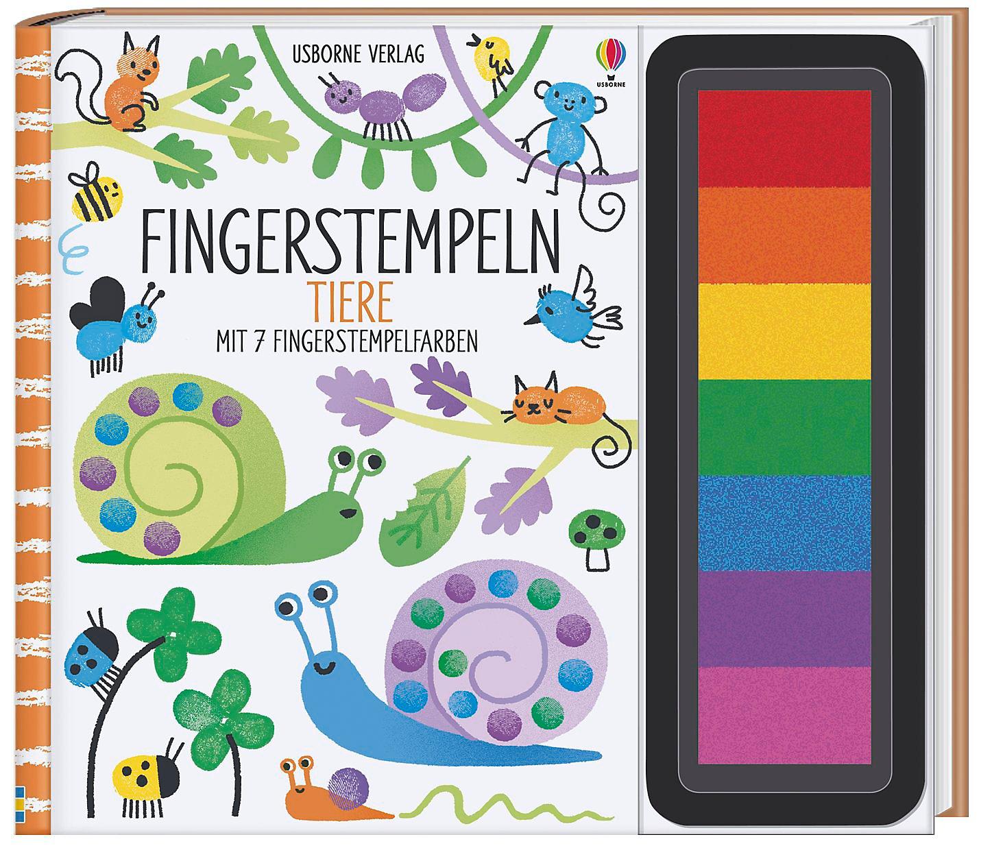 Fingerstempeln Tiere Buch Von Fiona Watt Portofrei Weltbild De