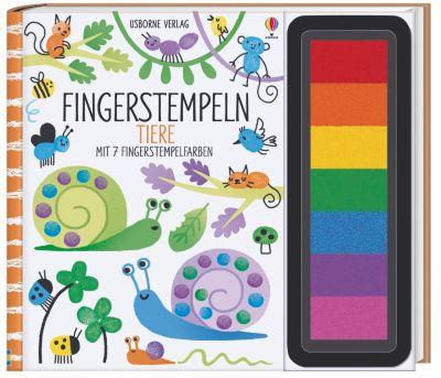 Fingerstempeln: Tiere, Fiona Watt
