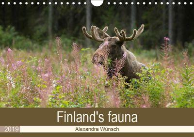 Finland's fauna (Wall Calendar 2019 DIN A4 Landscape), Alexandra Wünsch