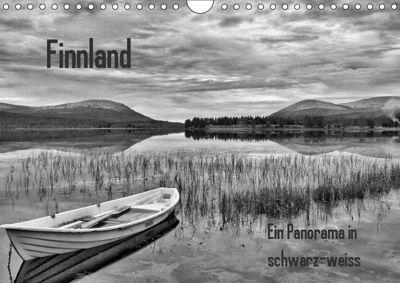 Finnland Panorama in schwarz-weiss (Wandkalender 2019 DIN A4 quer), Anke Thoschlag