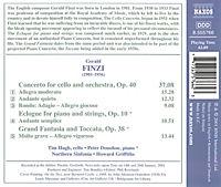 Finzi: Cellokonzert op. 40 / Eclogue für Klavier und Streicher op. 10 / Grosse Fantasie u. Toccata op. 38 - Produktdetailbild 1