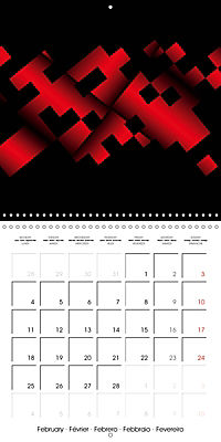 Fireworks In Red (Wall Calendar 2019 300 × 300 mm Square) - Produktdetailbild 2