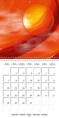 Fireworks In Red (Wall Calendar 2019 300 × 300 mm Square) - Produktdetailbild 1