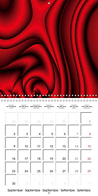 Fireworks In Red (Wall Calendar 2019 300 × 300 mm Square) - Produktdetailbild 9