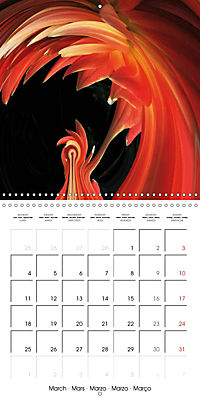 Fireworks In Red (Wall Calendar 2019 300 × 300 mm Square) - Produktdetailbild 3
