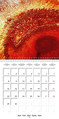 Fireworks In Red (Wall Calendar 2019 300 × 300 mm Square) - Produktdetailbild 4
