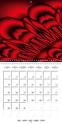 Fireworks In Red (Wall Calendar 2019 300 × 300 mm Square) - Produktdetailbild 7