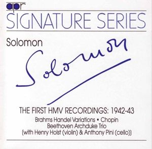 First HMV Recording 1942 - 1943, Solomon