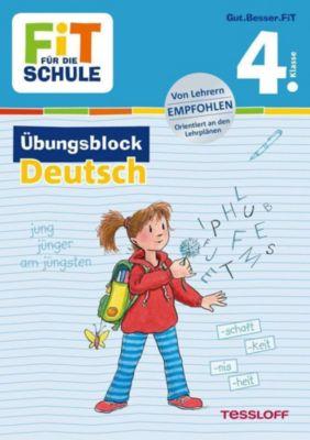 Fit für die Schule: Übungsblock Deutsch 4. Klasse - Werner Zenker |