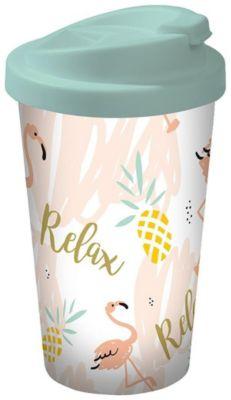 Flamingo Coffee to go Becher Relax, 400 ml