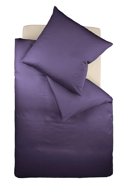 Fleuresse Bettwäsche Colours Mako Satin Lavendel Größe 155 X 220