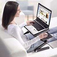 Flexibler Alu-Notebooktisch mit Mausablage - Produktdetailbild 1