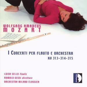 Flötenkonzerte KV 313, 314, 315, Luisa Sello, Orchestra Milano Classica, Gessi