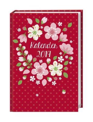 Floral 17-Monats-Kalenderbuch A5 2019