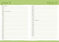 Floral 17-Monats-Kalenderbuch A6 2018 - Produktdetailbild 7