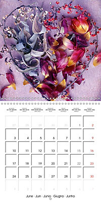 Floral Emotion (Wall Calendar 2019 300 × 300 mm Square) - Produktdetailbild 6