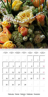Flower Bouquet (Wall Calendar 2019 300 × 300 mm Square) - Produktdetailbild 2