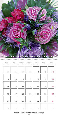 Flower Bouquet (Wall Calendar 2019 300 × 300 mm Square) - Produktdetailbild 3