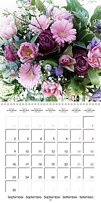 Flower Bouquet (Wall Calendar 2019 300 × 300 mm Square) - Produktdetailbild 9