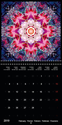 Flower Energy Mandalas (Wall Calendar 2019 300 × 300 mm Square) - Produktdetailbild 2