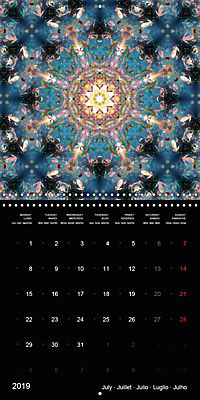 Flower Energy Mandalas (Wall Calendar 2019 300 × 300 mm Square) - Produktdetailbild 7