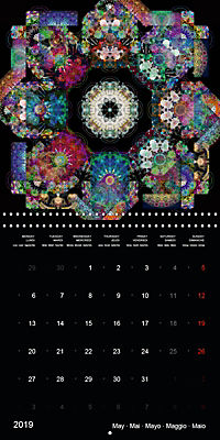 Flower Energy Mandalas (Wall Calendar 2019 300 × 300 mm Square) - Produktdetailbild 5