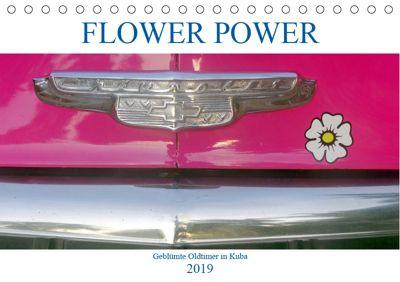 FLOWER POWER - Geblümte Oldtimer (Tischkalender 2019 DIN A5 quer), Henning von Löwis of Menar