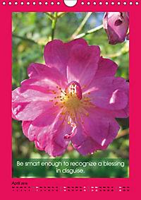 Flowerful Quoteful (Wall Calendar 2019 DIN A4 Portrait) - Produktdetailbild 4