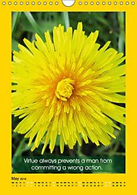 Flowerful Quoteful (Wall Calendar 2019 DIN A4 Portrait) - Produktdetailbild 5