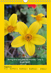 Flowerful Quoteful (Wall Calendar 2019 DIN A4 Portrait) - Produktdetailbild 8