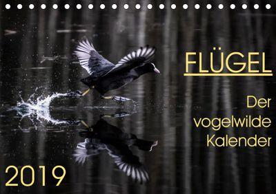 Flügel 2019 Der vogelwilde Kalender (Tischkalender 2019 DIN A5 quer), Irma van der Wiel