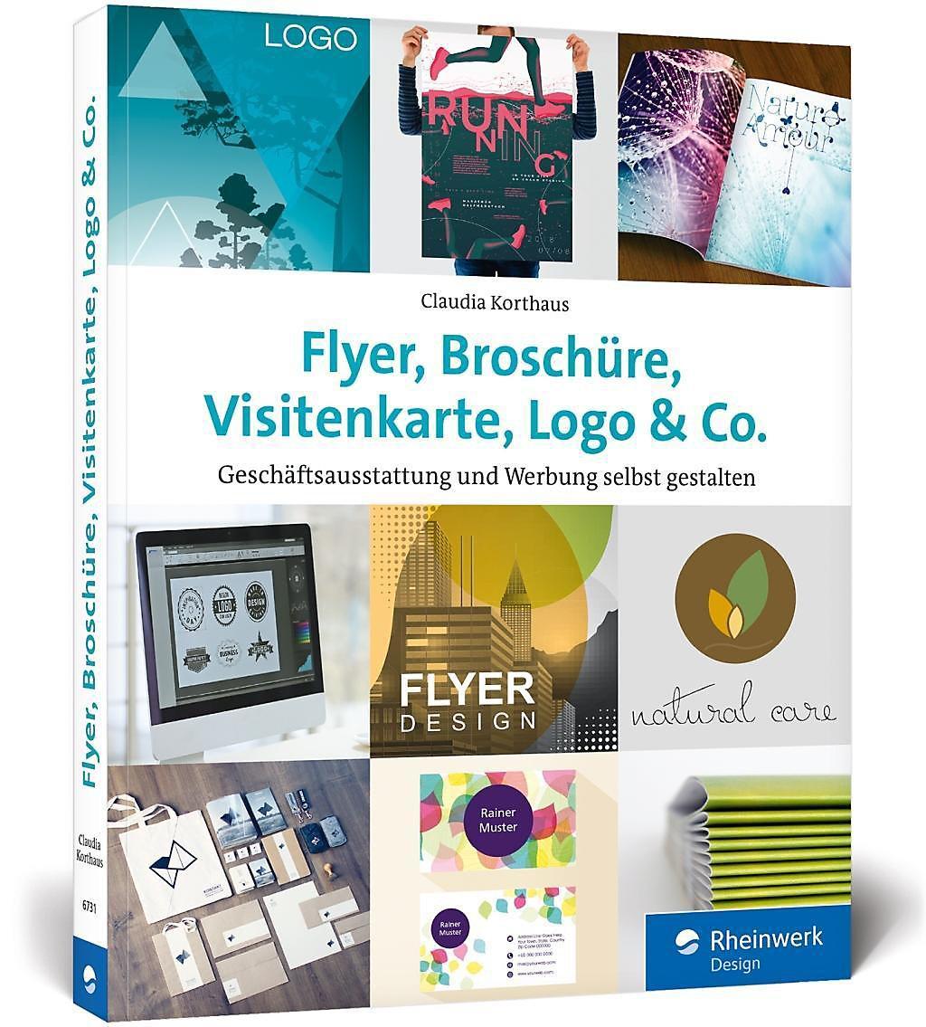 Flyer Broschüre Visitenkarte Logo Co Buch