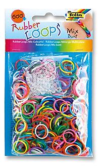 Folia RubberLoops Set Mix Streifen nachtleuchtend, 1.204 Teile, Polybeutel - Produktdetailbild 4