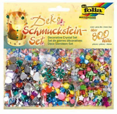 folia Schmucksteine-Set Deko, 800-teilig