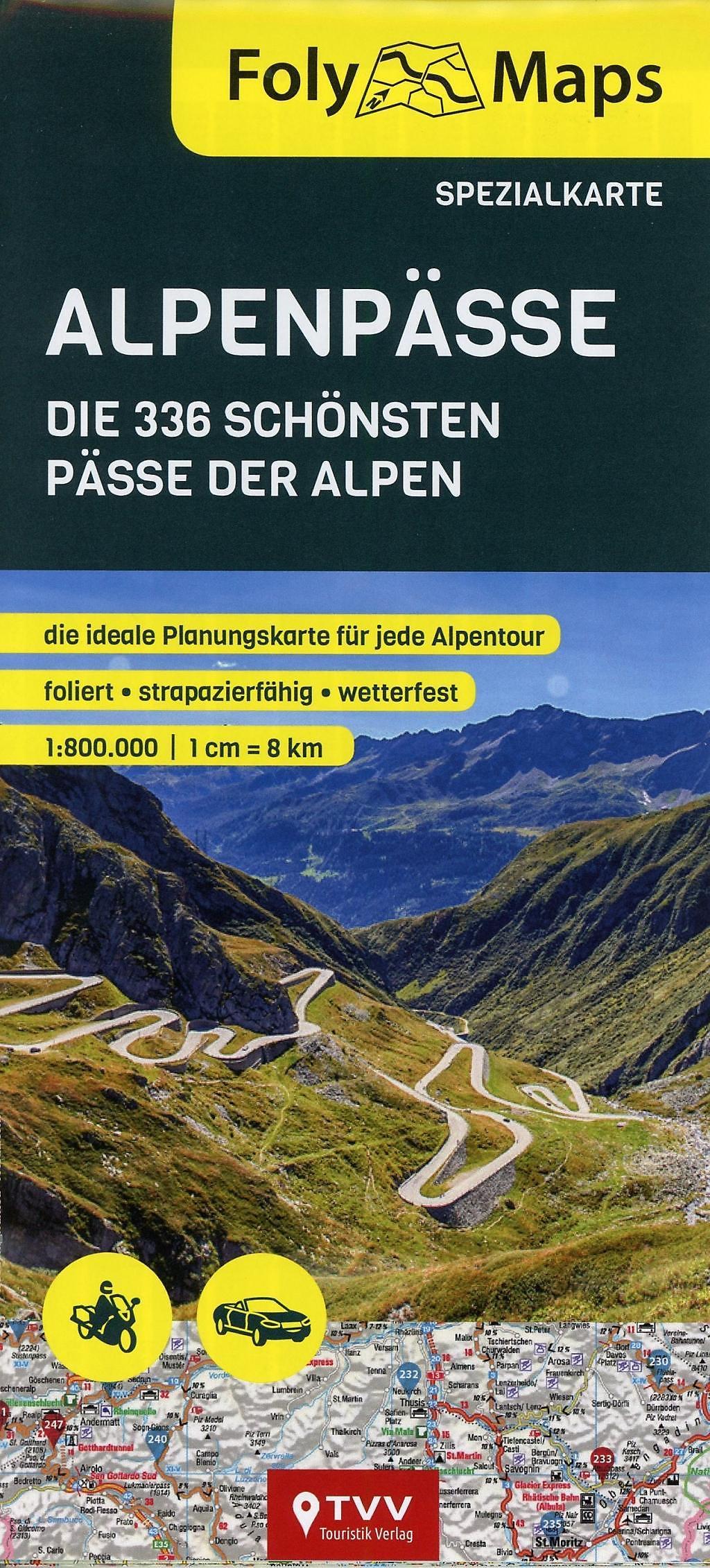 Alpenpässe Karte.Folymaps Alpenpässe Spezialkarte Buch Bei Weltbild Ch Bestellen