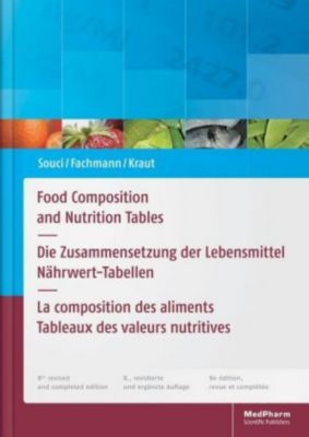 Food Composition and Nutrition Tables, Siegfried W. Souci, W. Fachmann, Heinrich Kraut