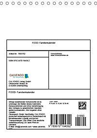 FOOD -Familienkalender (Tischkalender 2019 DIN A5 hoch) - Produktdetailbild 13