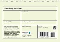 Ford Mustang - Die Legende (Tischkalender 2019 DIN A5 quer) - Produktdetailbild 13
