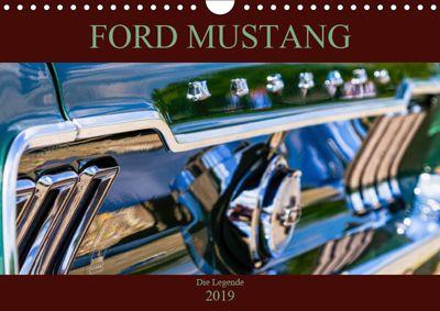 Ford Mustang - Die Legende (Wandkalender 2019 DIN A4 quer), Peter Schürholz