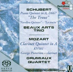 Forellenquintett/Klarinettenquintett, Beaux Art Trio, Pieterson Quartet
